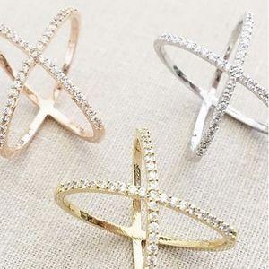 Jewel Trim X Ring